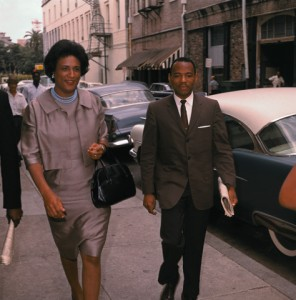 James Meredith and Constance Motley on the Street