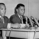 Medgar Evers and James H. Meredith at Press Conference
